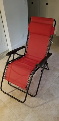 red and black folding chair Plantation, 33324