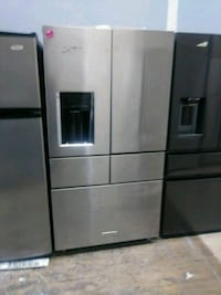 KitchenAid stainless steel 5door French style refr Cleveland, 44109