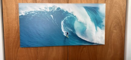 surfer riding ocean wave picture painting