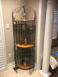 Wine rack great condition. Delivery available on cost of gas Brampton