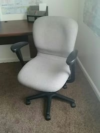 black and gray office rolling chair Frederick, 21701