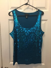 Women's XL - Teal Sequin Tank Top from Macy's