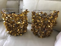 2 candle holders (sconces) new