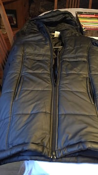 black bubble winter jacket with hood, girls size 12 (full length). Burnaby, V5G 2A8