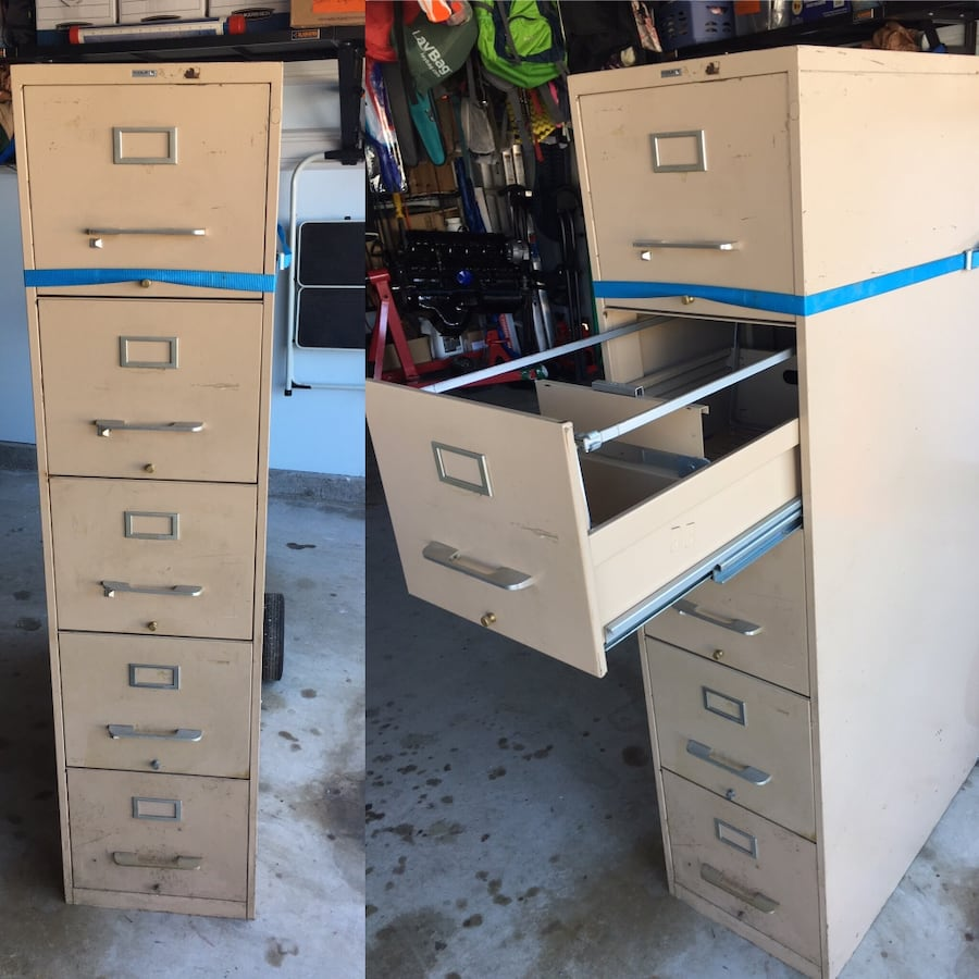 5 drawer smooth glide file cabinet