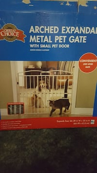 Great Choice arched expendable metal pet gate box