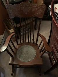 Mid 1800s Antique Rocking Chair