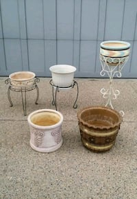 *PLANTERS & METAL PLANT STANDS *(INCLUDES SOME LARGE PLANTERS)*
