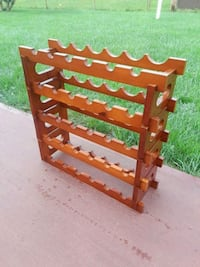 brown wooden 5-layer Wine rack Rochester, 14606