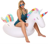 Brand New Seal in Box Giant Inflatable Unicorn Pool Float Swimming Pool Ride-On Toy for Parties Summer Holiday Hayward, 94544