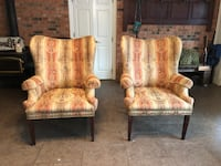 2 lovely antique high back chairs sitting room furniture  Livingston, 70754