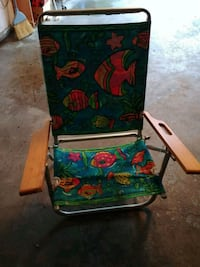 green, red, and blue floral folding chair Manchester, 03102