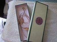 Asian Themed Handmade Recycled Paper Gift Box with Ribbon Tie Winnipeg