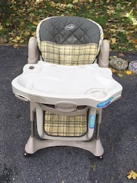 baby's white and gray highchair Silver Spring, 20904
