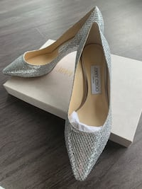 Jimmy Choo - Silver Glitter Size 6.5 US Washington, 20024