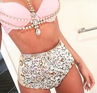 High Waisted, Bejeweled Swimsuit Kalamazoo, 49006