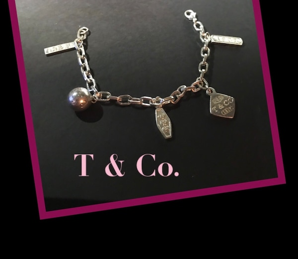 Authentic Tiffany and Co. Charm Bracelet (small fit) 925 Sterling Silver