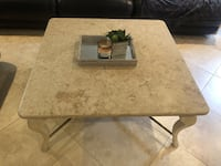 Large Stone Coffee Table & Two End Tables