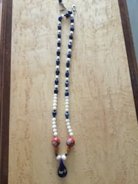Lapis Lazuli and Pearl Necklace VANCOUVER