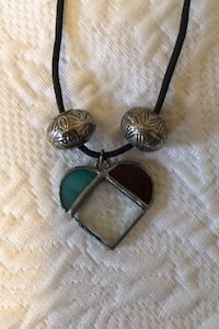 Necklace with stained glass pendant  Toronto, M9B 2B1