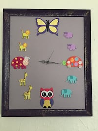 16x20 children's animal working CLOCK Holland, 43528