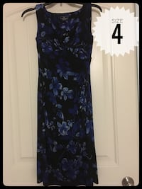 women's black and blue floral sleeveless dress Brownsville, 78526