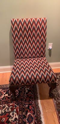 Chevron patterned chair.  Seat cushioning needs some work. Potomac, 20854