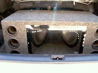 2 10 inch kenwood subs in box  Seattle, 98133