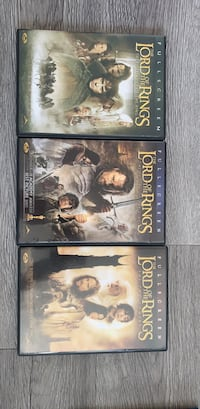 Lord of the Rings dvd movies.