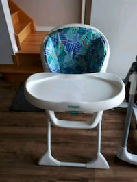 baby's white and green high chair Ajax, L1S 3Z9