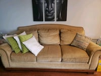 Golden beige color couch and love seat  Paterson, 07501