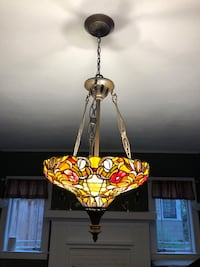 Stained glass Tiffany-style hanging chandelier Jacksonville, 32205