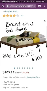 Brand new bed frame professionally assembled