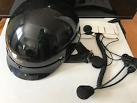Motor cycle helmet with communication  headset Langley, V3A 3X5