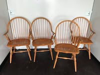 four brown wooden windsor chairs Mississauga, L5B 2L3