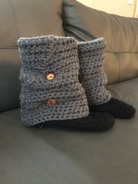 grey-and-black crochet boots 2659 km