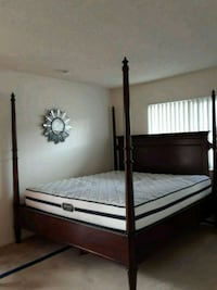 black wooden bed frame with white mattress Manteca, 95337