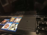 Ps4 slim with 5 games 2 remotes  Leesburg, 20175