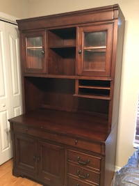 Solid cherry wood hutch with power supply to keyboard and entertainment center. Comes in two pieces. Pull out drawer and more  Spring Hill, 34609