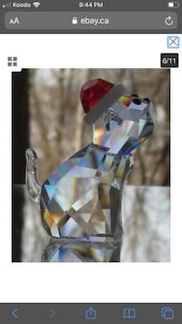 Swarovski Crystal Santa Cat