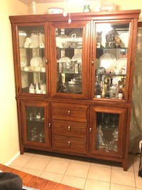 3 Panel Lighted China Cabinet Springfield