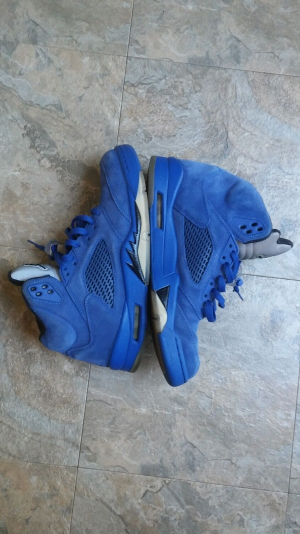 4773af7b90c Used Jordan Retro 5 Blue Suede - Size 11 for sale in San Bruno - letgo