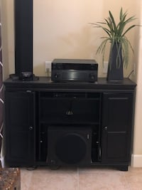 "2  50"" Black TV stand. $50 each"