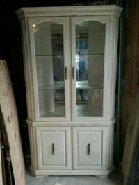 white oak corner unit framed glass display cabinet Toronto, M3J 1N1