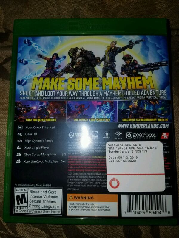 Borderlands 3 for xbox one  c010f671-d787-4194-8934-a9b1c4346667