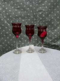 3 ruby etched glasses Alexandria, 22301
