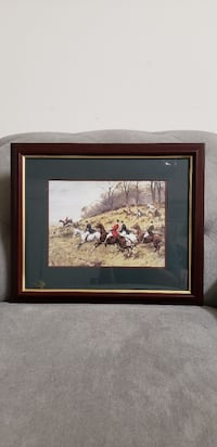 brown wooden framed painting of horses Madison, 53719
