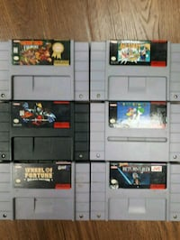 six assorted Nintendo game cartridges Edmonton, T5E 5G2