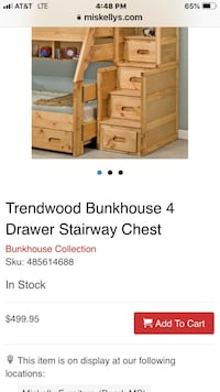 Bunk bed stairs and drawers Ridgeland