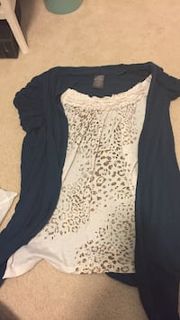 black and white leopard print twinset Conway, 48418
